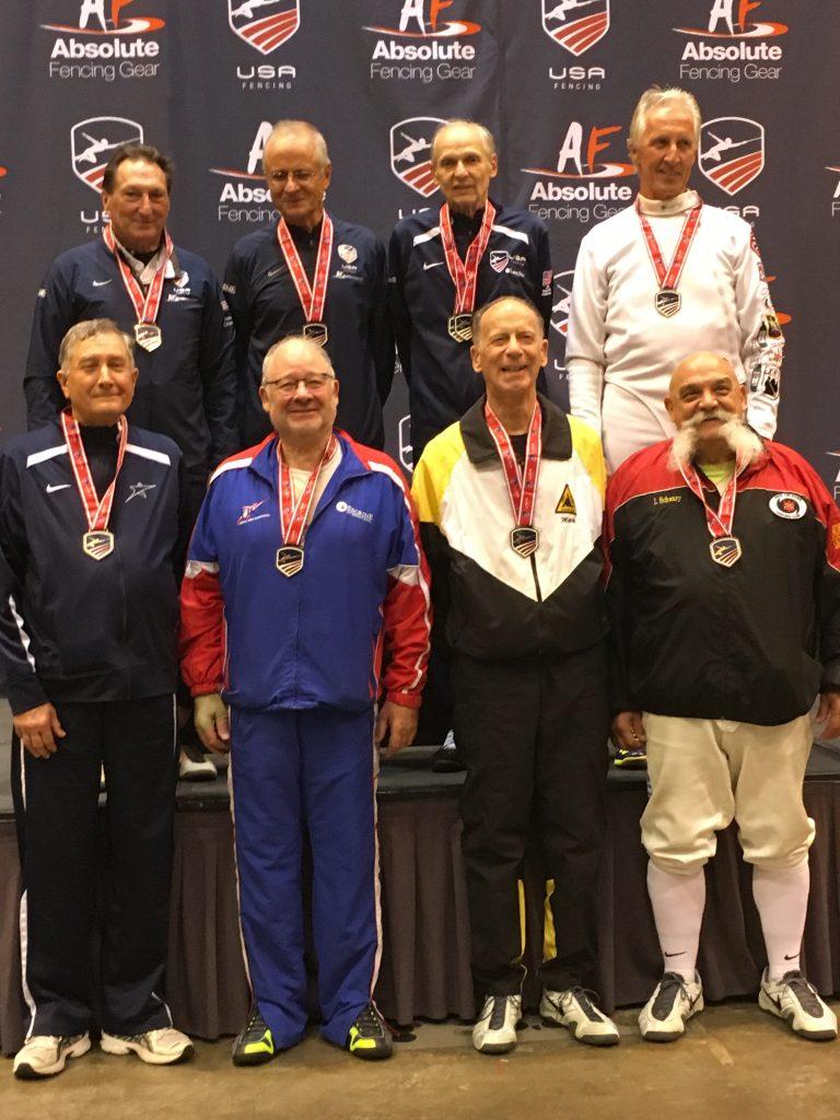 Rinaldo Wins Bronze in Epee Vet 70 Nat. Championships